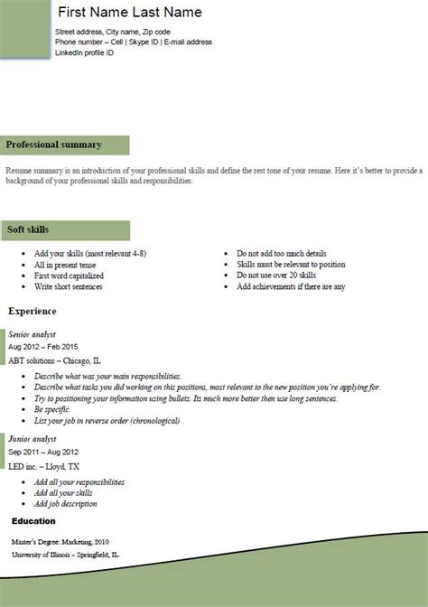 Great Resume Exles 2016 by What Is Resume Template 2016