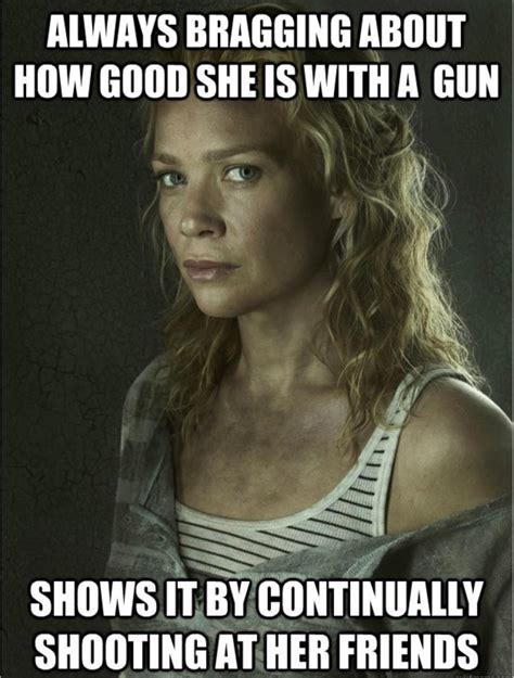 Andrea Meme - andrea guns the walking dead know your meme
