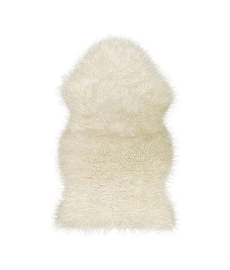 faux fur sheepskin throw rug blanket chair cover white
