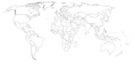 Mapa Mundi Con Sus Paises Blanco Y