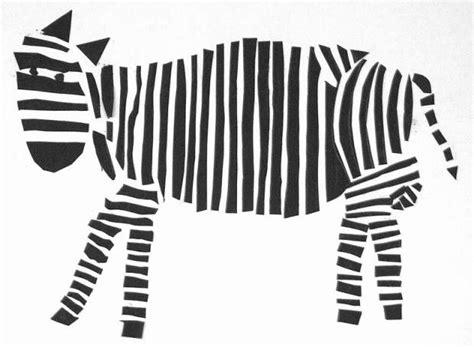 Bilder Kleben Gestreifte Kunst by Zebra Mit Bleistift Vorzeichnen Dann Streifen Kleben