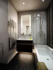 petite salle de bains avec baignoire douche 27 idees With comment amenager un jardin tout en longueur 18 renovation douche italienne