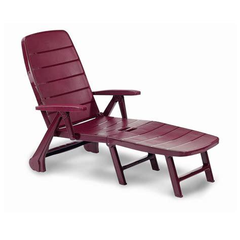 la chaise longue bordeaux chaise longue de jardin charleston matériau synthétique