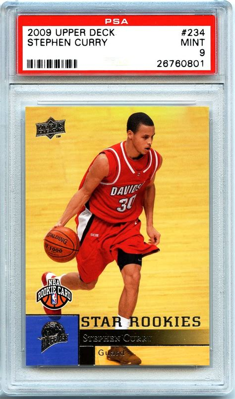 Check spelling or type a new query. Lot Detail - 2009 Upper Deck #234 Stephen Curry RC Rookie Card PSA 9 Mint