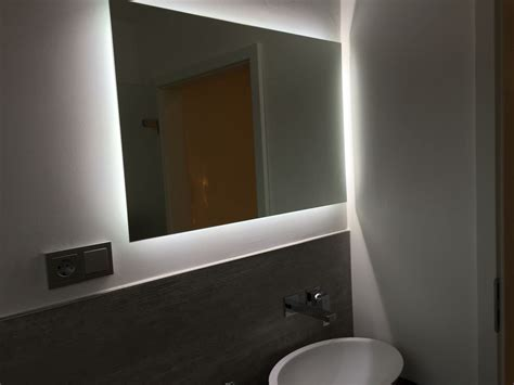 Spiegel Gäste Wc Ohne Beleuchtung by Spiegel Mit Led Beleuchtung One Bath Im G 228 Ste Wc