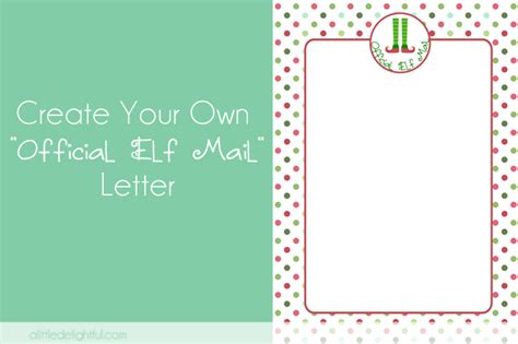 elf letter template preview blank elf letter templates data