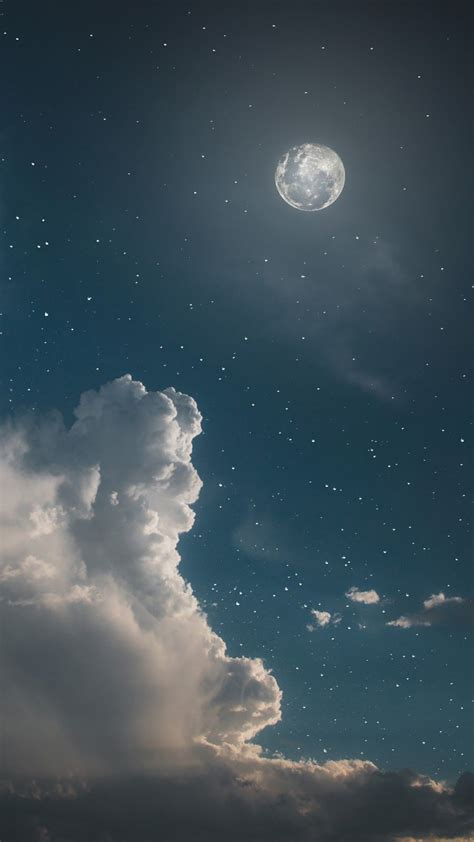 Aesthetic Wallpaper For Iphone Moon by Sky Aesthetic Wallpaper Clouds Moon And Sky
