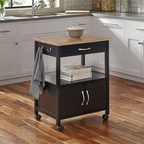 dolly madison banner black kitchen cart    home