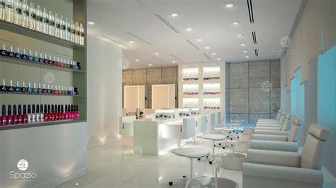 modern beauty salon interior design  dubai hairnail
