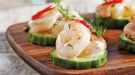 cucumber canapes shrimp and cucumber canapés iga recipes bell peppers