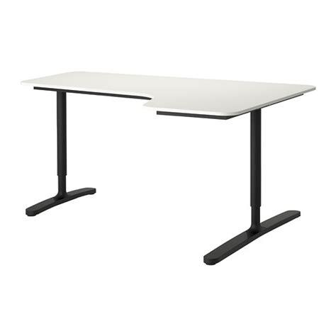 bekant corner desk right white black ikea