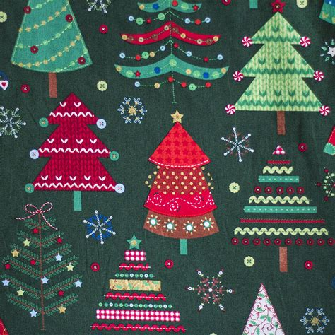 sewing notions christmas tree cotton fabric sew crafty