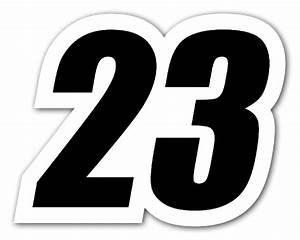 23 Racing Number - StickerApp