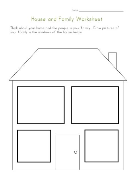 house  family worksheet