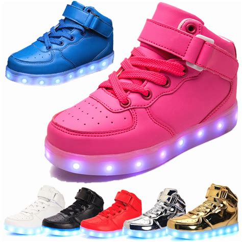 light up boots for girls new boys girls led light up shoes sneakers usb charger