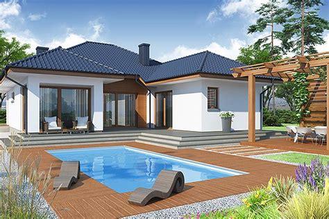 predstavljamo vam detaljan plan prizemne kuce od  kvadratnih metara sa bazenom  prelepim