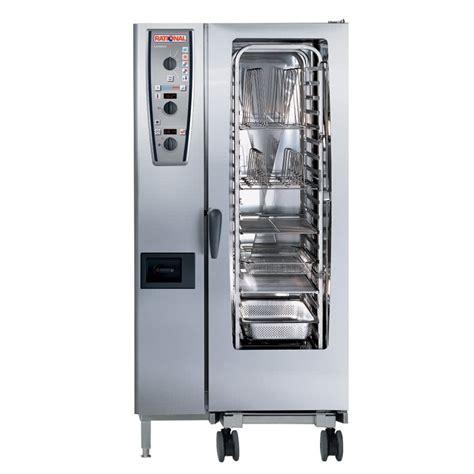 rational cuisine rational combimaster plus model 201 a219206 27e202 combi oven with twenty half size sheet pan