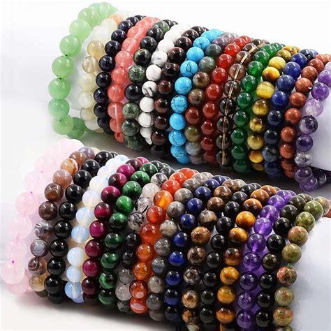 "Genuine Natural Beads Stone Bracelet 75"" Length Exquisite. Bubble Chains. Halo Diamond Earrings. Personalised Rings. Multi Bangle Bracelets. Snake Diamond. Forever Bands. Heart Rings. Pearl Stud Earrings"