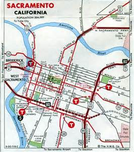 Sacramento California City Map