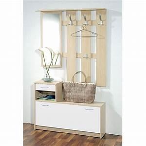 EASY Vestiaire érable et blanc 2 portes