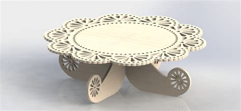 Cake Holder Mdf File Design For Cutting Cnc Router And