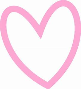 Slant Pink Heart Outline Clip Art at Clker.com - vector ...