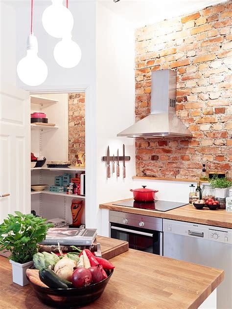 exposed brick kitchen incorporating exposed bricks in stylish designs around the