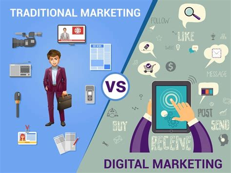 digital and marketing what are the differences between traditional marketing and