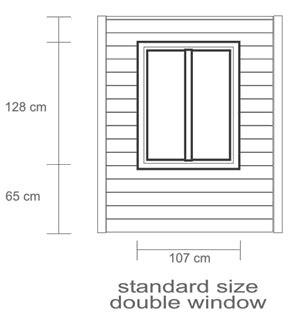 Window Sill Size by Paulini Garden Buildings