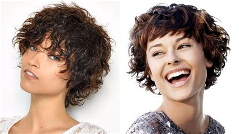 short haircuts curly hair women hairstyles  youtube