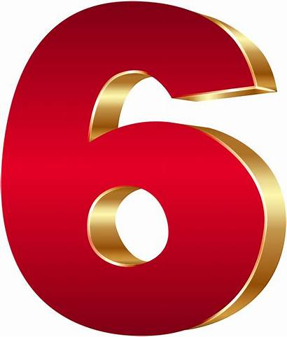 Six Number Clipart Clip Graphics Transparent Numbers