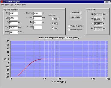 Speaker Cabinet Design Software Free by Aj Audio Subwoofer Box Enclosure Design Software Sub