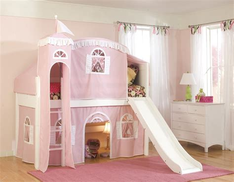princess bed white wooden bunk bed with slide