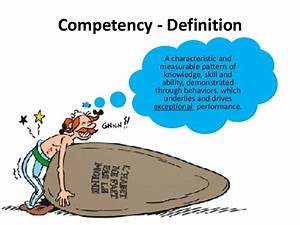 Competency Competent Definition