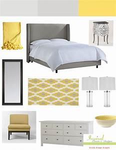 grey yellow bedroom - TjiHome