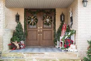 decorating your front porch for christmas bigger than the three of us