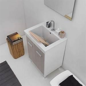mobile con lavatoio incasso in ceramica 60x45 With lavatoio ceramica con mobile