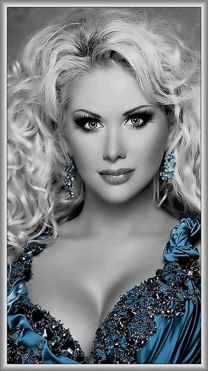 Woman Splash Eyes Face Femme Colour Blonde