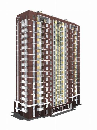 Building Residential Architectural Drawing Drawings Multi Storey