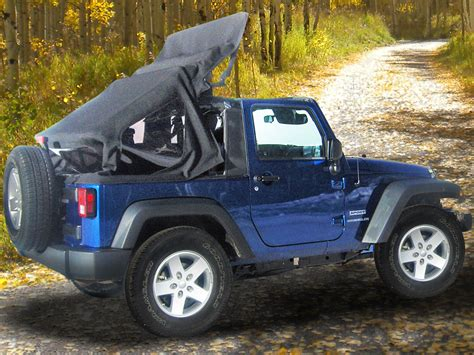 jeep wrangler open top mytop offers motorized soft top for jeep wranglers off