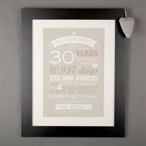 gifts for 30th wedding anniversary 30th pearl wedding anniversary gifts gettingpersonal co uk