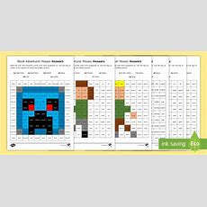 * New * Phase 5 Block Adventurer Mosaic Worksheets  Letters And Sounds