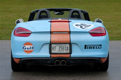 gulf racing colors boostaddict new 2013 981 boxster in amazing classic gulf