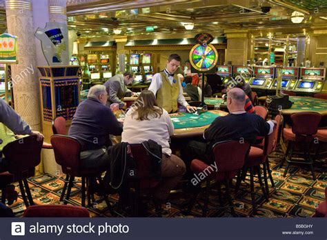 Cruise Ship Passengers Playing Blackjack Poker In The Ship Casino Stock Photo Royalty Free ...