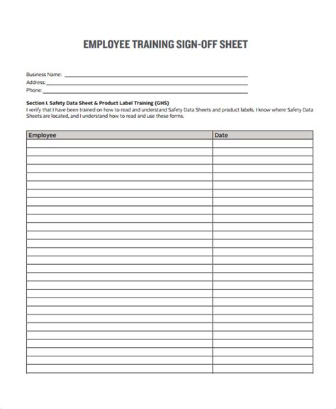 Training Completion Sign Off Sheet Template by Training Sign Off Sheet Templates Charlotte Clergy Coalition
