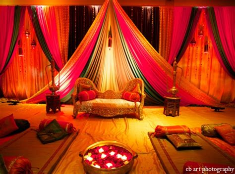 indian wedding reception lighting decor maharani weddings