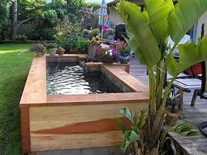 creative small fish ponds ideas With amenagement petit jardin avec terrasse et piscine 8 terrasse bois le blog de atpvs over blog