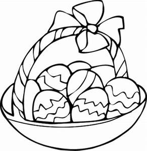 easter basket printable coloring pages - the wayne stater egg basket coloring page