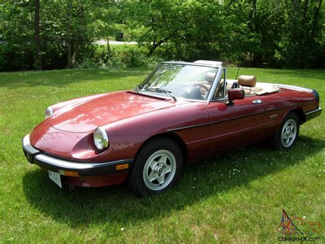 1988 Alfa Romeo Spider by Alfa Romeo Spider Veloce 1988 Low Mileage 42 500 Clean
