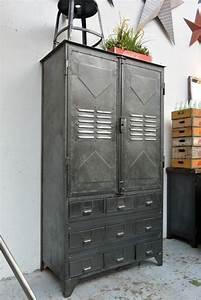 Armoire Industrielle Vintage : best 25 vintage lockers ideas on pinterest locker ~ Teatrodelosmanantiales.com Idées de Décoration